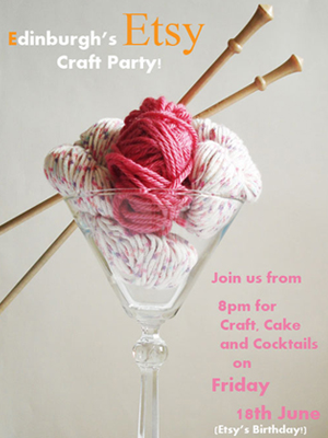 Edinburgh Etsy Craft Party poster design