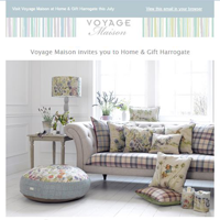 HTML email designed for Voyage Maison