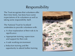 Responsibility slide for Volunteer Handbook E-Learning module