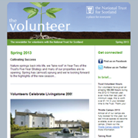 Email design for NTS volunteer newsletter
